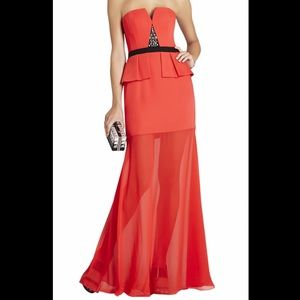 BCBGMAXAZRIA NEW! With tag.Sz 6 Red Strapless Gown
